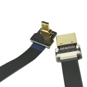Black 30CM FPV HDMI Cable FFC Micro HDMI 90 Degree to Standard HDMI Full HDMI Normal HDMI for Gopro A7RII A7SII A9 A6500 A6300(Reverse Socket of A6000)